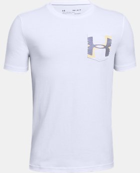 New Arrival  Boys' UA Hypno Pocket Short Sleeve T-Shirt  2  Colors Available $30