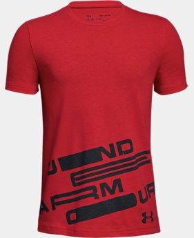 New Arrival  Boys' UA Spatter Branded Short Sleeve T-Shirt  1  Color Available $25