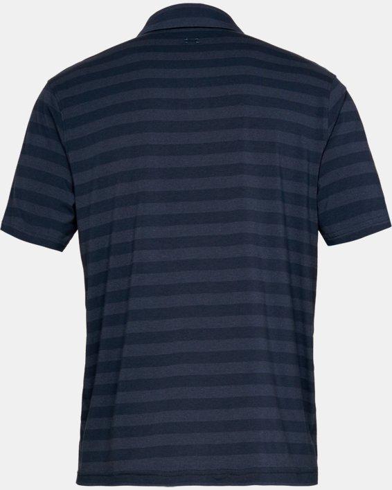 Men's UA Charged Cotton® Scramble Stripe Polo, Navy, pdpMainDesktop image number 4