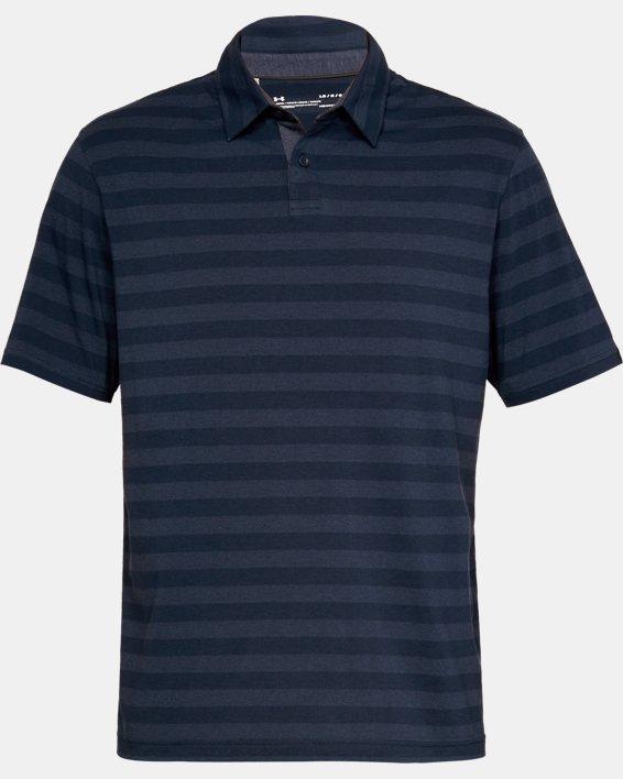 Men's UA Charged Cotton® Scramble Stripe Polo, Navy, pdpMainDesktop image number 3