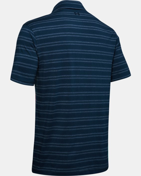 Men's UA Charged Cotton® Scramble Stripe Polo, Navy, pdpMainDesktop image number 5