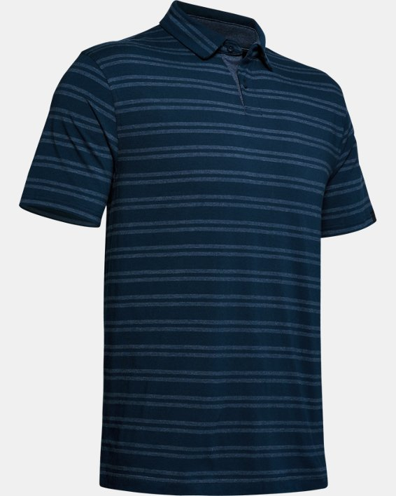 Men's UA Charged Cotton® Scramble Stripe Polo, Navy, pdpMainDesktop image number 4