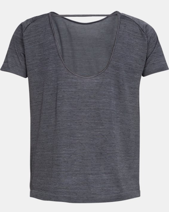 Women's UA Vanish Seamless  Spacedye Short Sleeve, Black, pdpMainDesktop image number 5