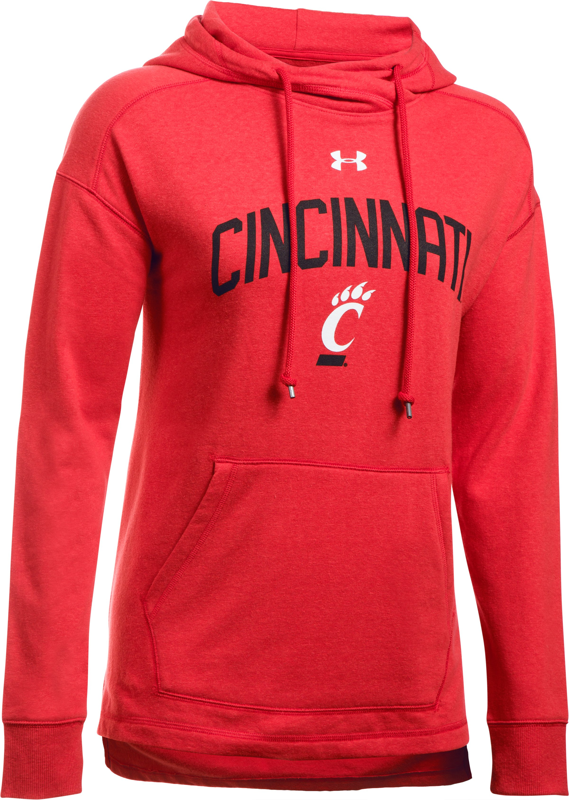 Women's Cincinnati UA Tri-Blend Hoodie, Red,