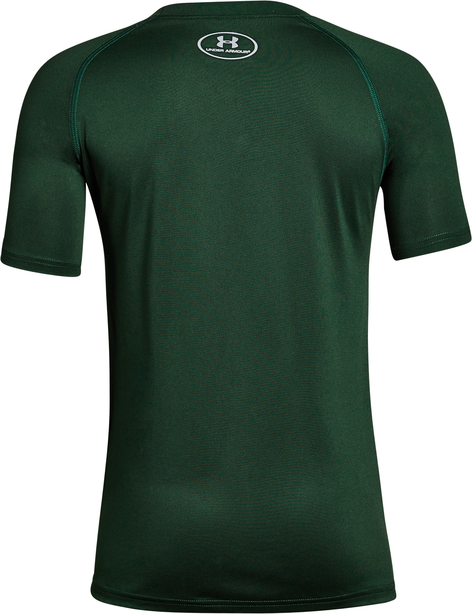 Boys' CSU Charged Cotton® T-Shirt, Forest Green,