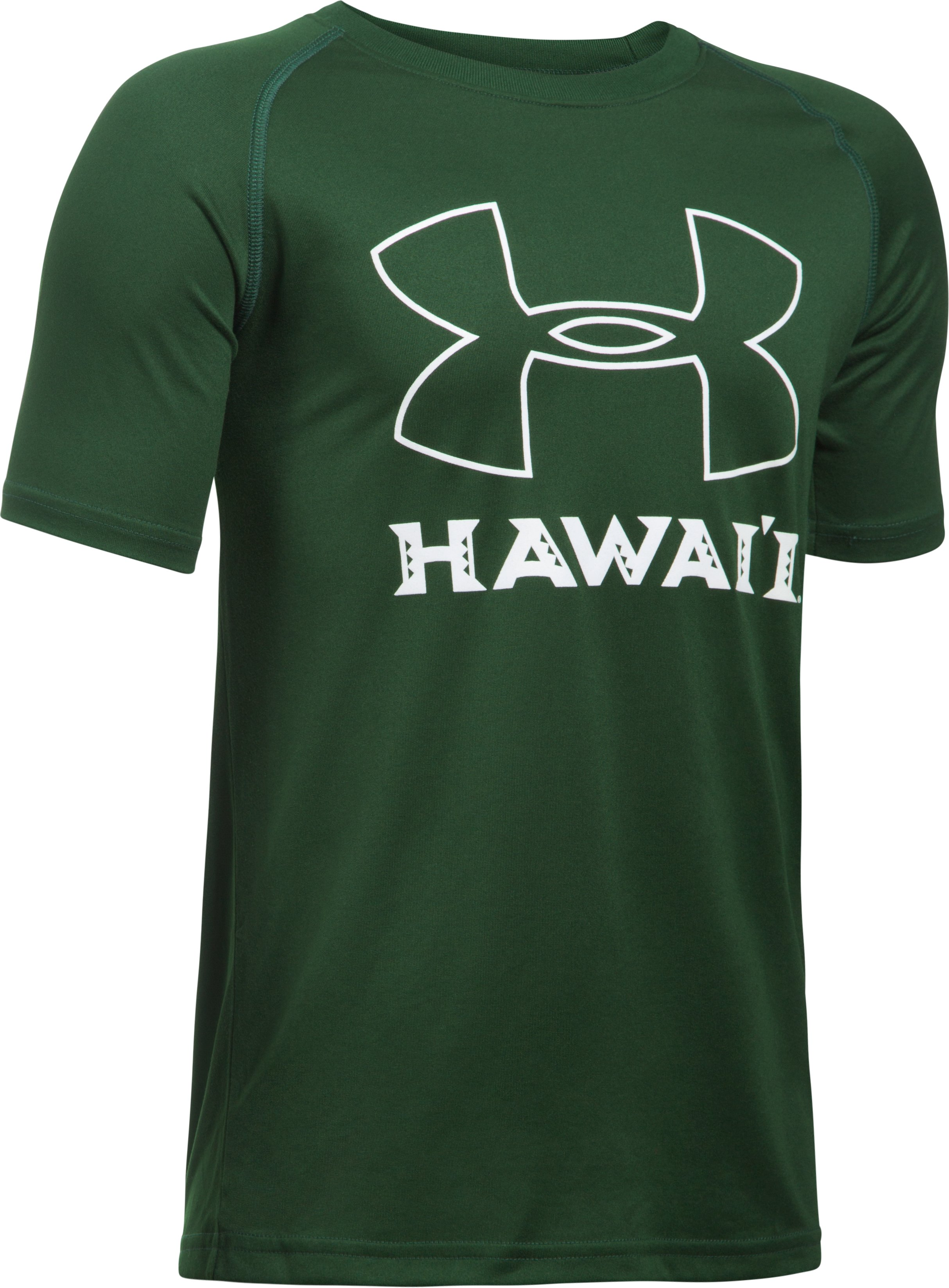 Boys' Hawai'i UA Tech™ T-Shirt, Forest Green,
