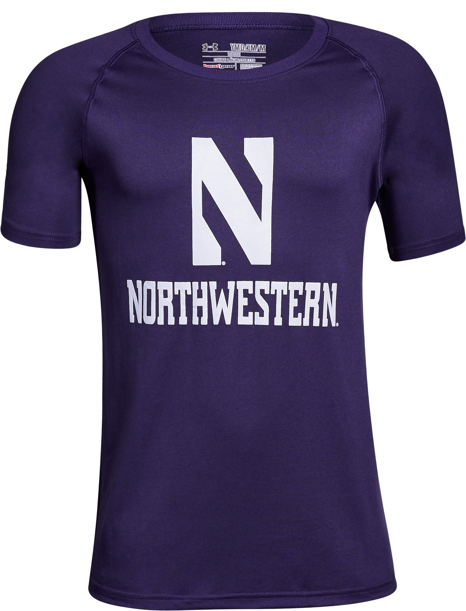 Boys' Northwestern Charged Cotton® T-Shirt, Purple, undefined