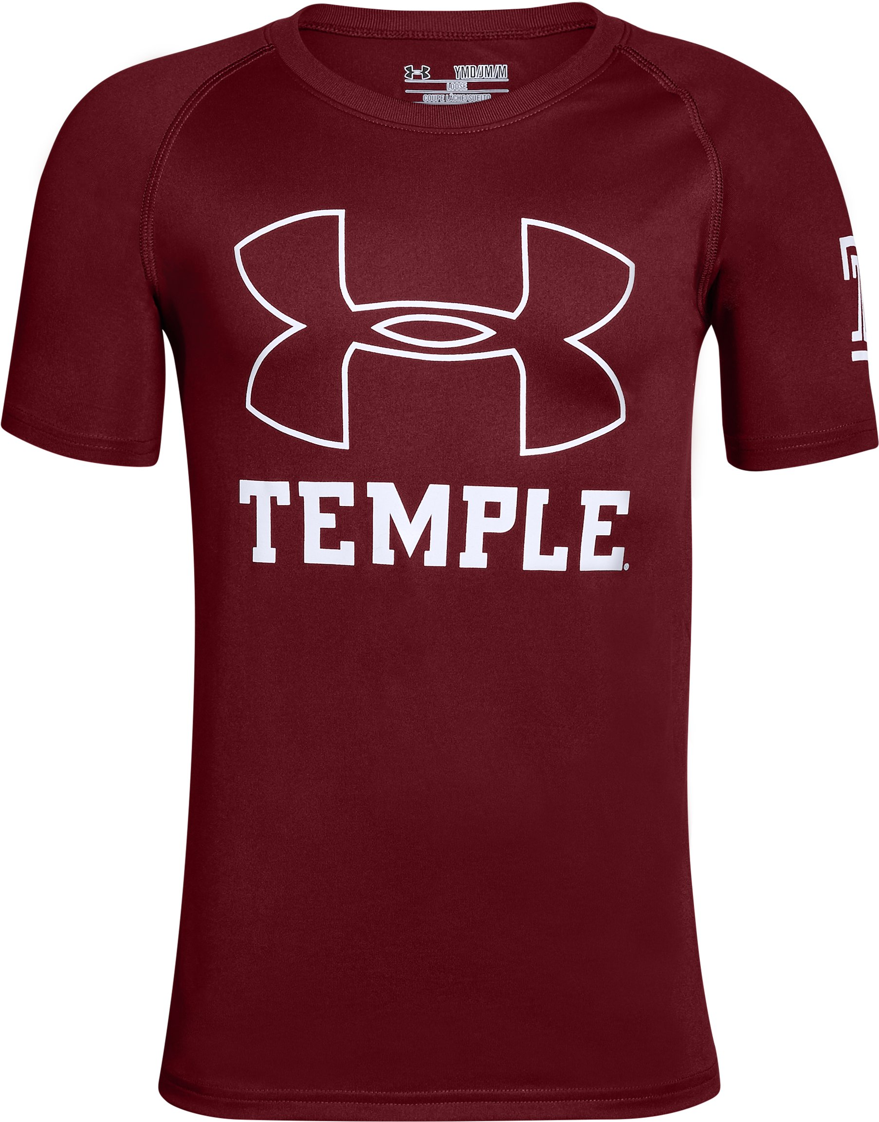Boys' Temple Charged Cotton® T-Shirt, Cardinal,