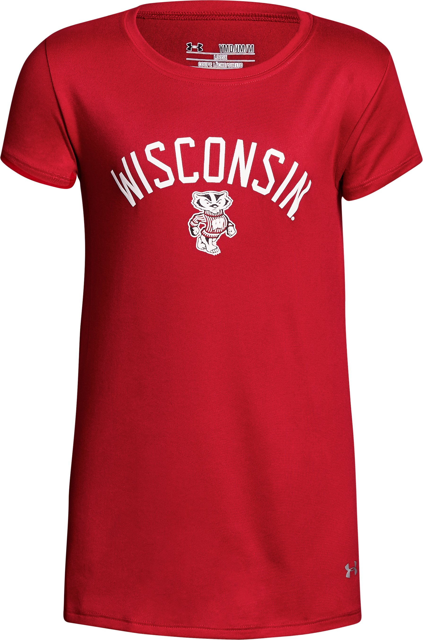 Girls' Wisconsin UA Graphic T-Shirt 1 Color $18.19