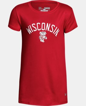 New Arrival Girls' Wisconsin UA Graphic T-Shirt   $25.99