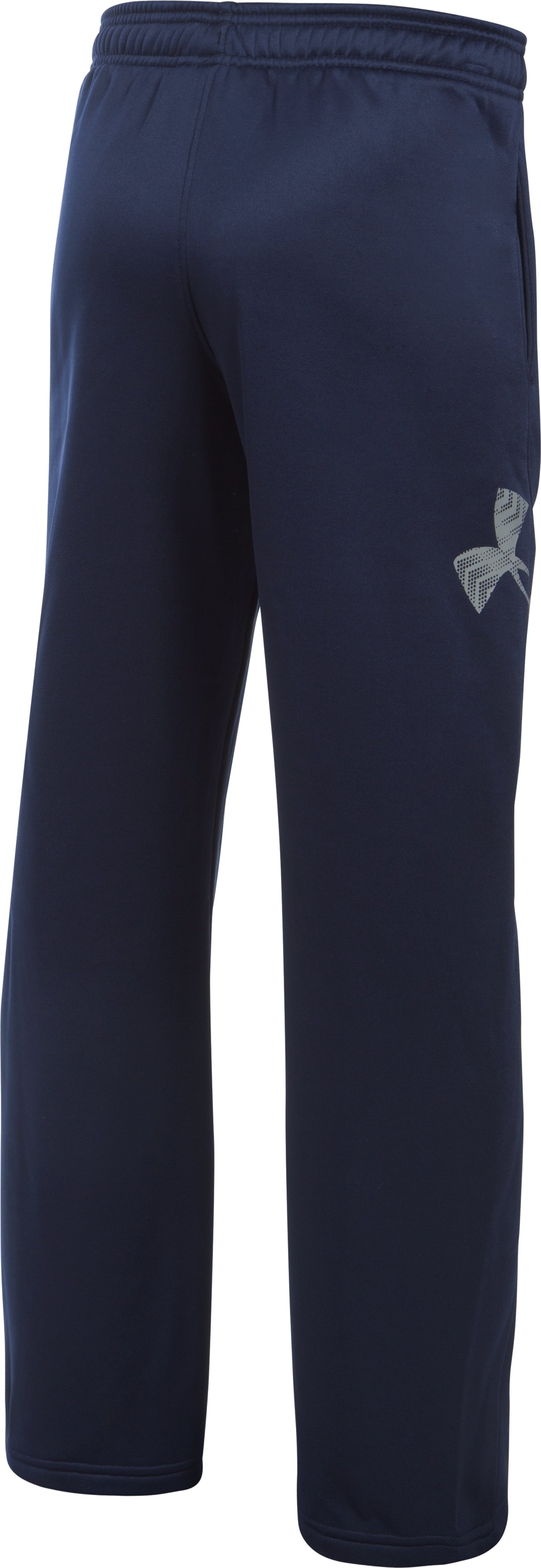 Boys' Notre Dame UA Big Logo Pants, Midnight Navy, undefined
