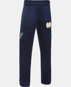 Boys' Notre Dame UA Big Logo Pants  1  Color Available $54.99