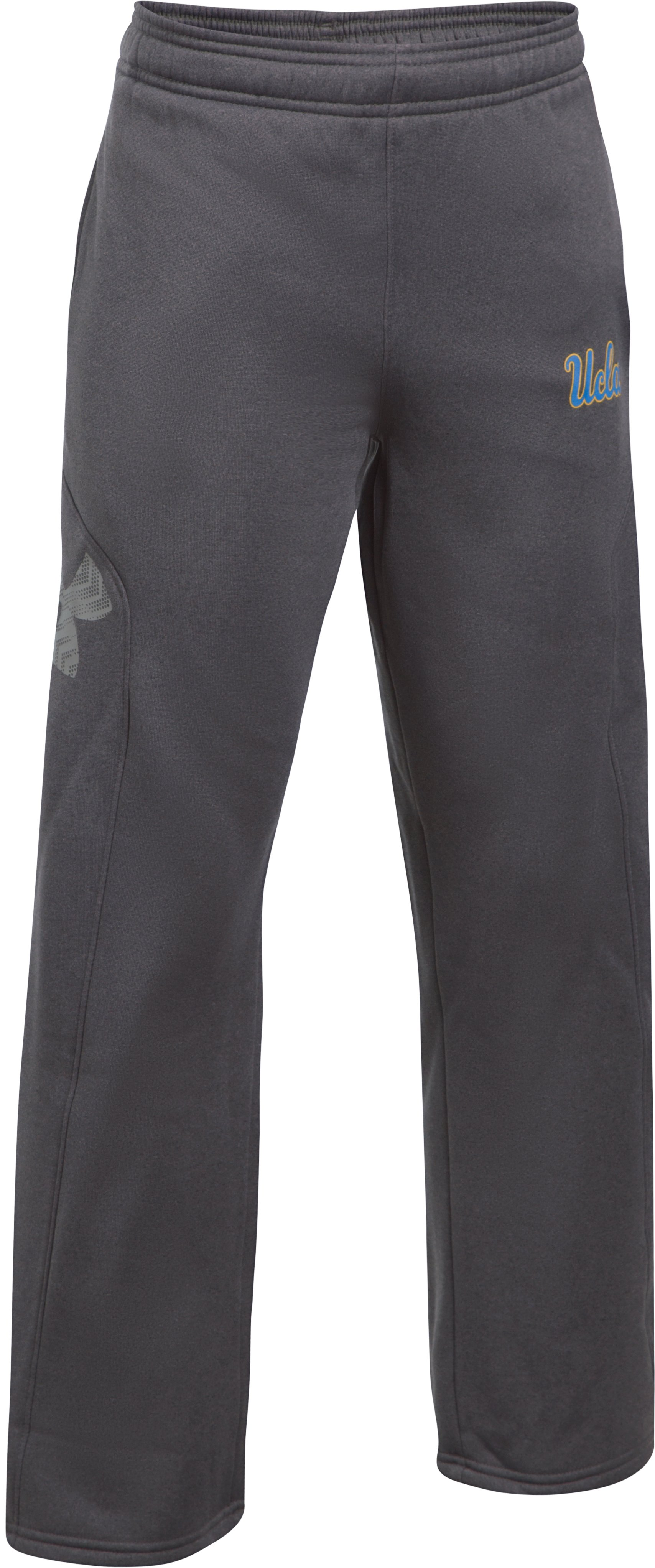 Boys' UCLA UA Big Logo Pants, Carbon Heather, zoomed image