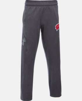 Boys' Wisconsin UA Big Logo Pants  1 Color $54.99