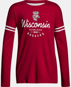 New Arrival Girls' Wisconsin Long Sleeve T-Shirt  1 Color $37.99