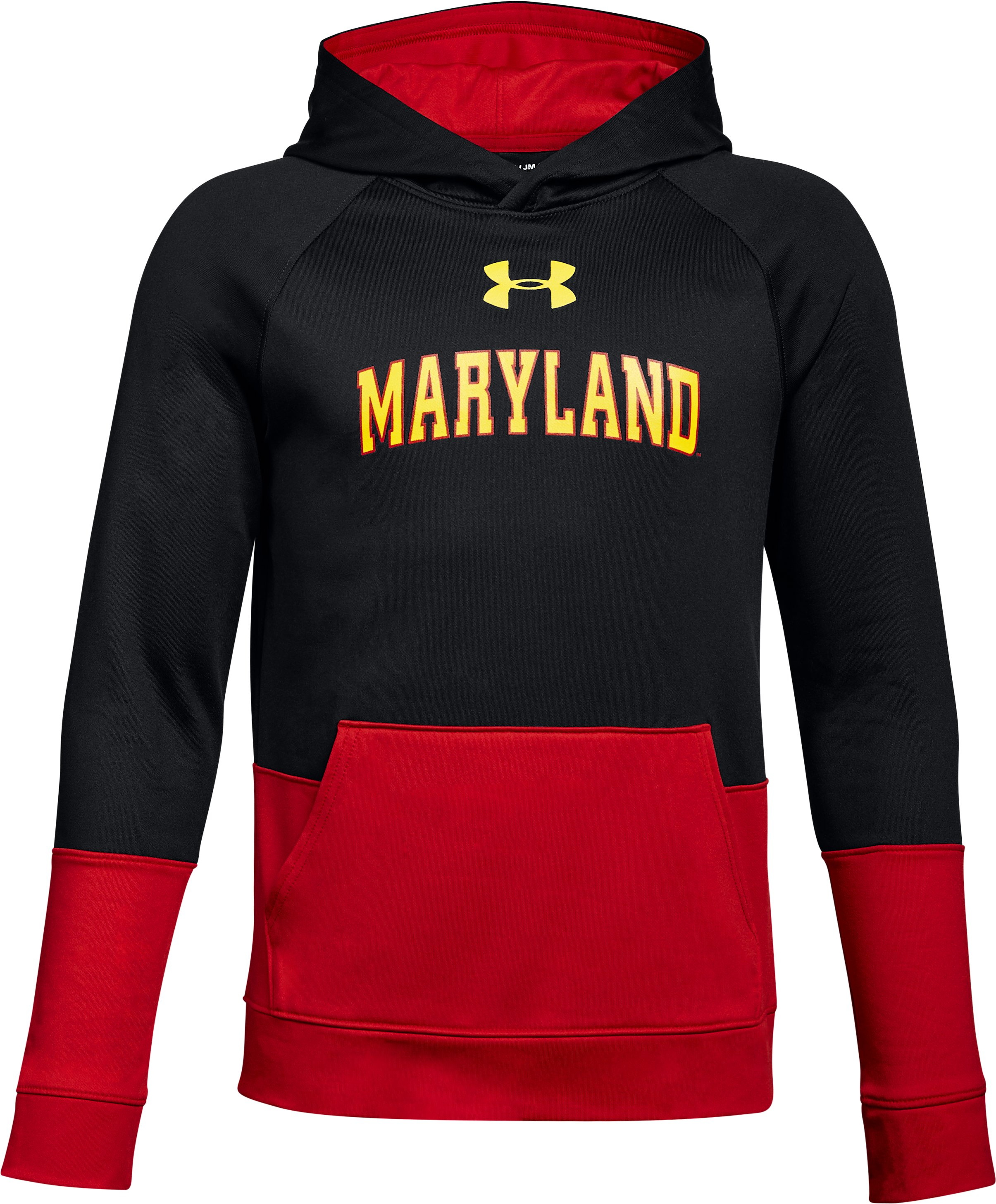 Boys' Maryland UA Tech Terry Hoodie, Black , undefined