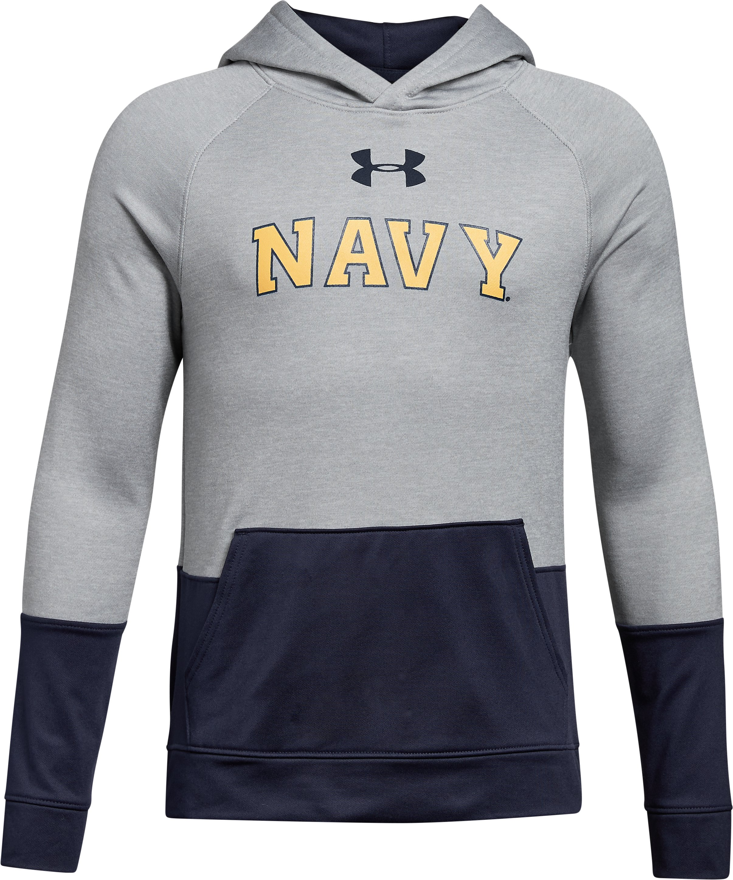 Boys' Naval Academy UA Tech Terry Hoodie, True Gray Heather