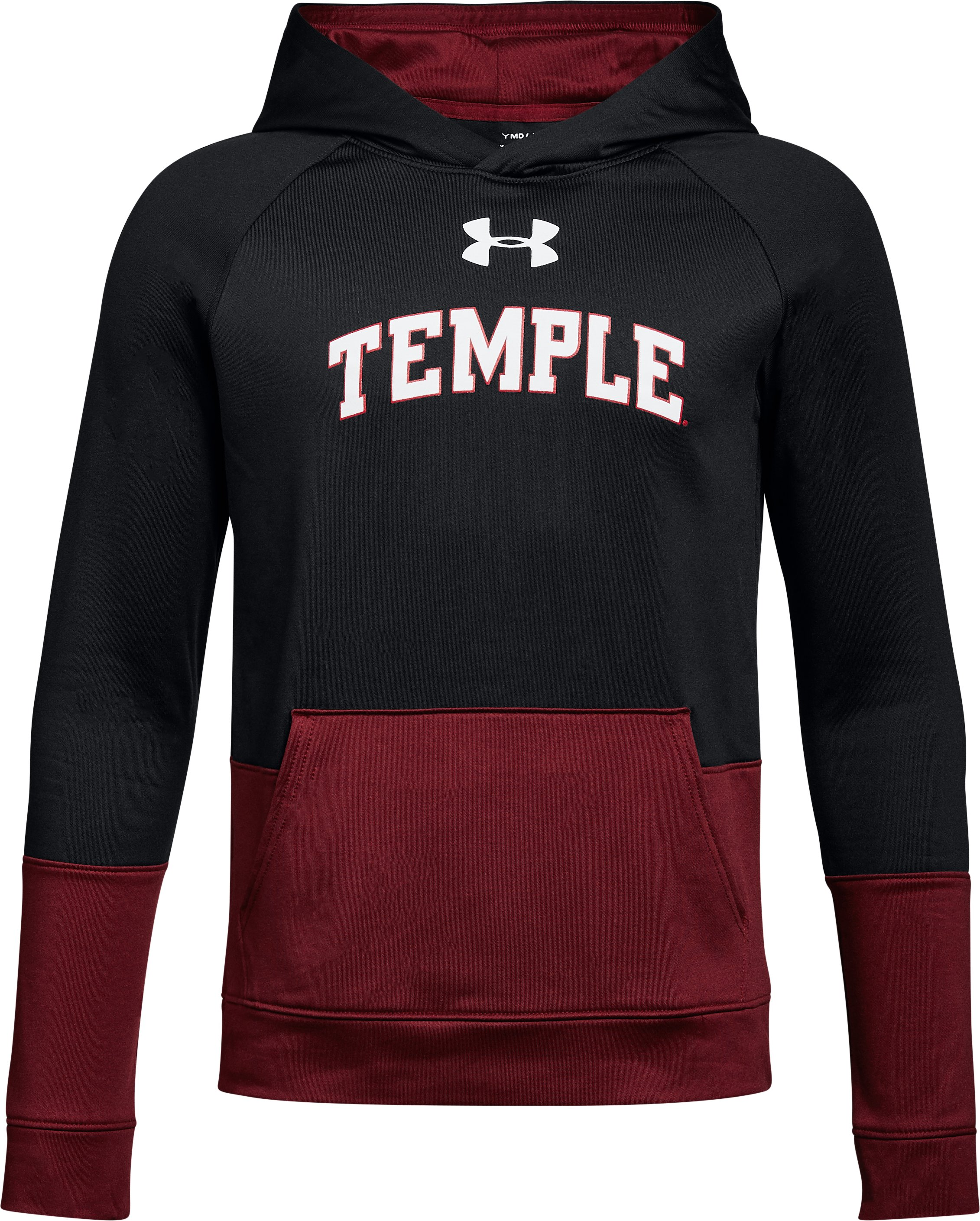 Boys' Temple UA Tech Terry Hoodie, Black , undefined