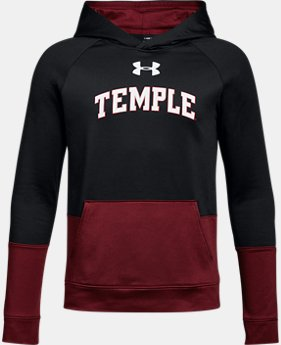 Boys' Temple UA Tech Terry Hoodie  1 Color $59.99