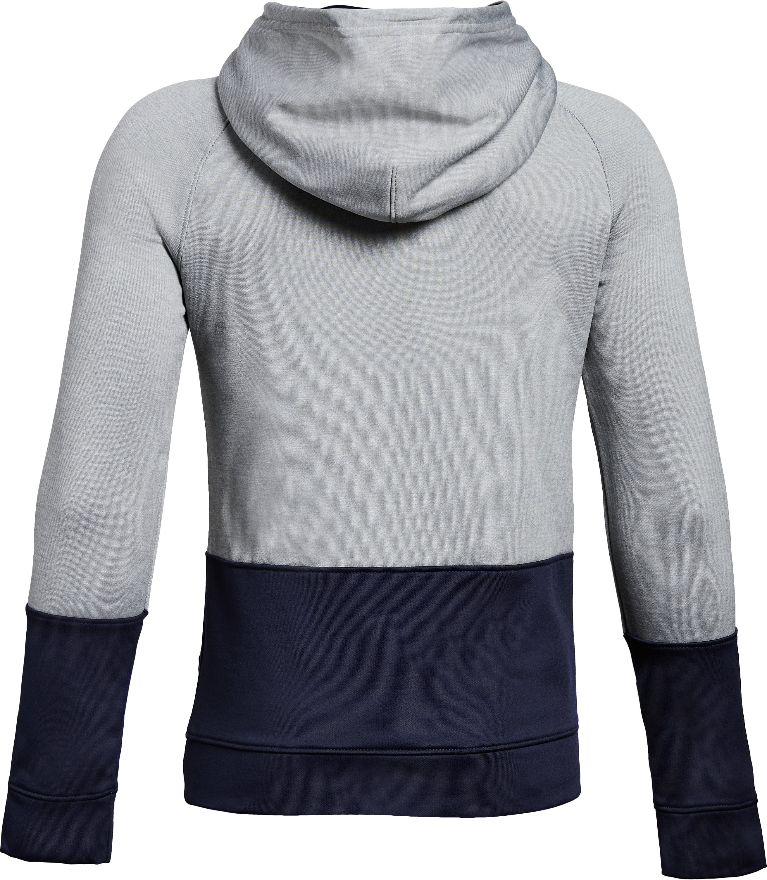 Boys' Yale UA Tech Terry Hoodie, True Gray Heather,