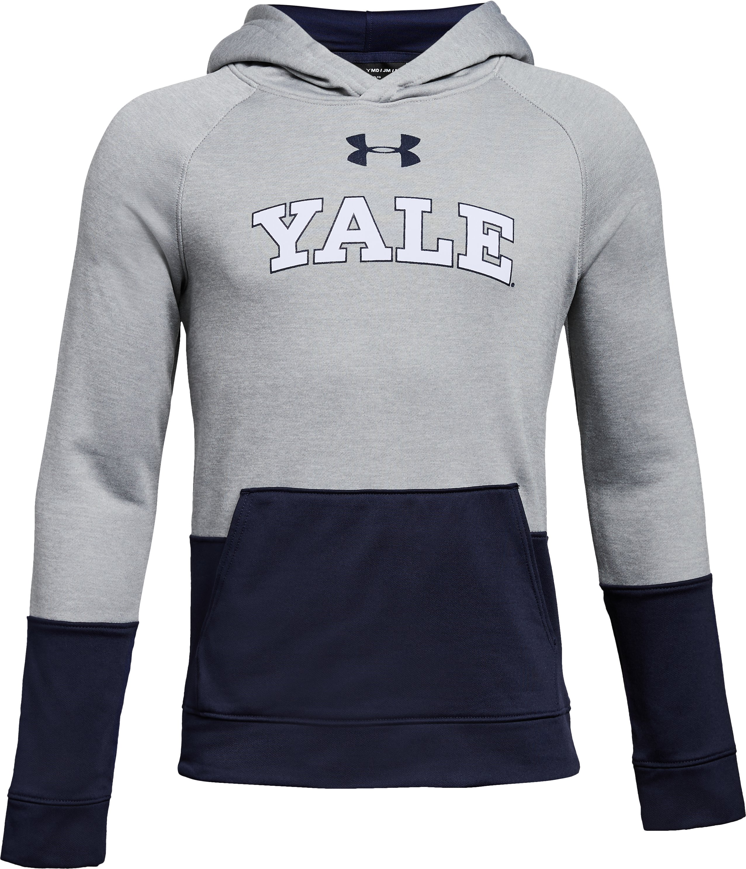 Boys' Yale UA Tech Terry Hoodie, True Gray Heather