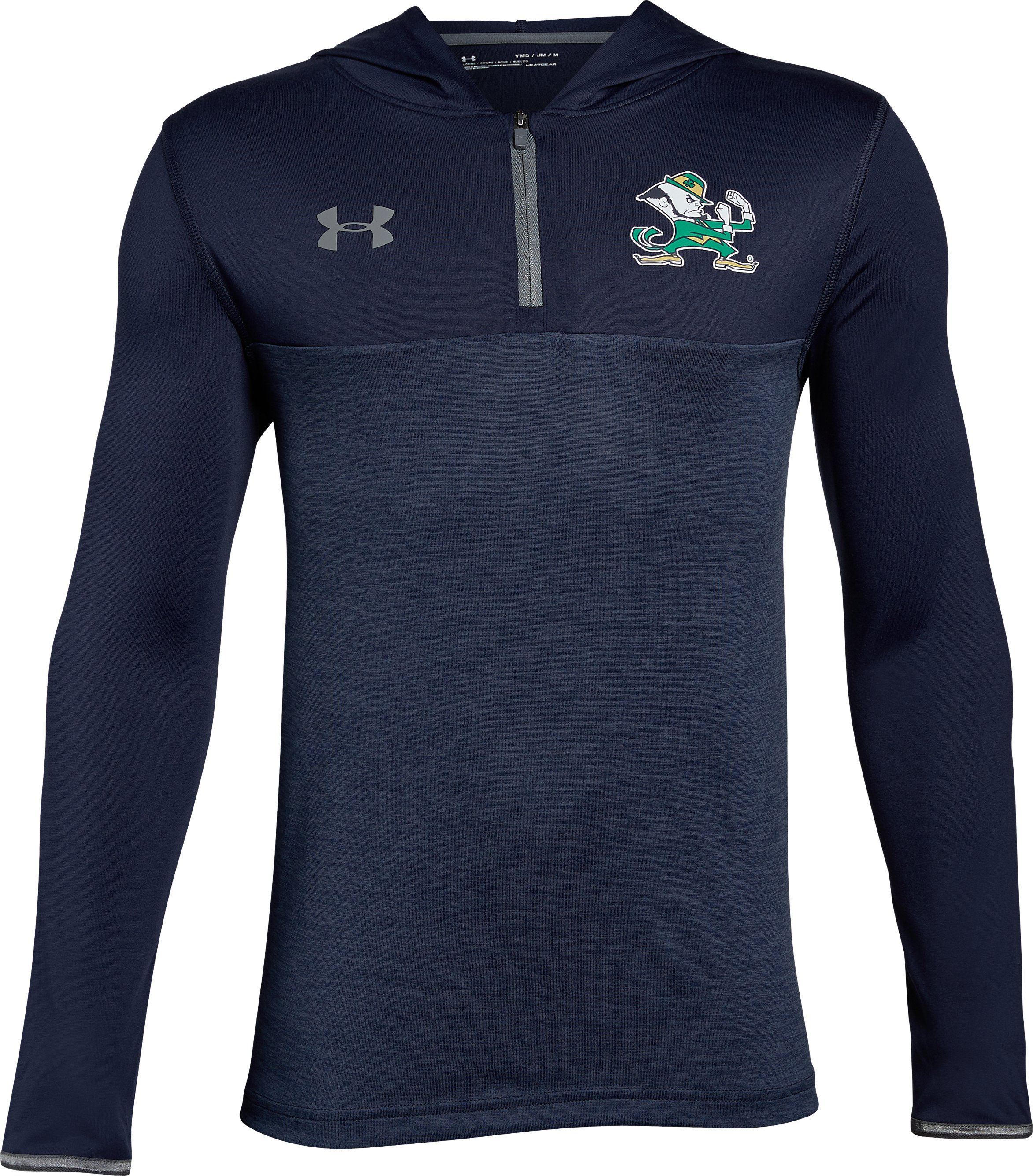 Boys' Notre Dame Tech ¼ Zip Hoodie, Midnight Navy