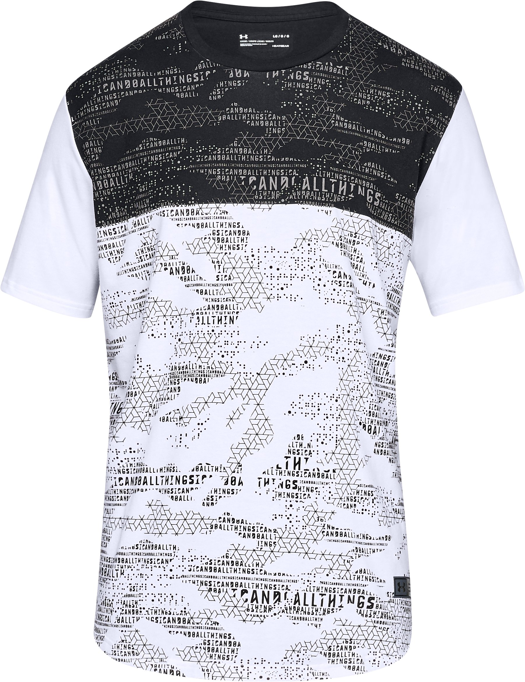 Men's SC30 Camo Printed T-Shirt, White,