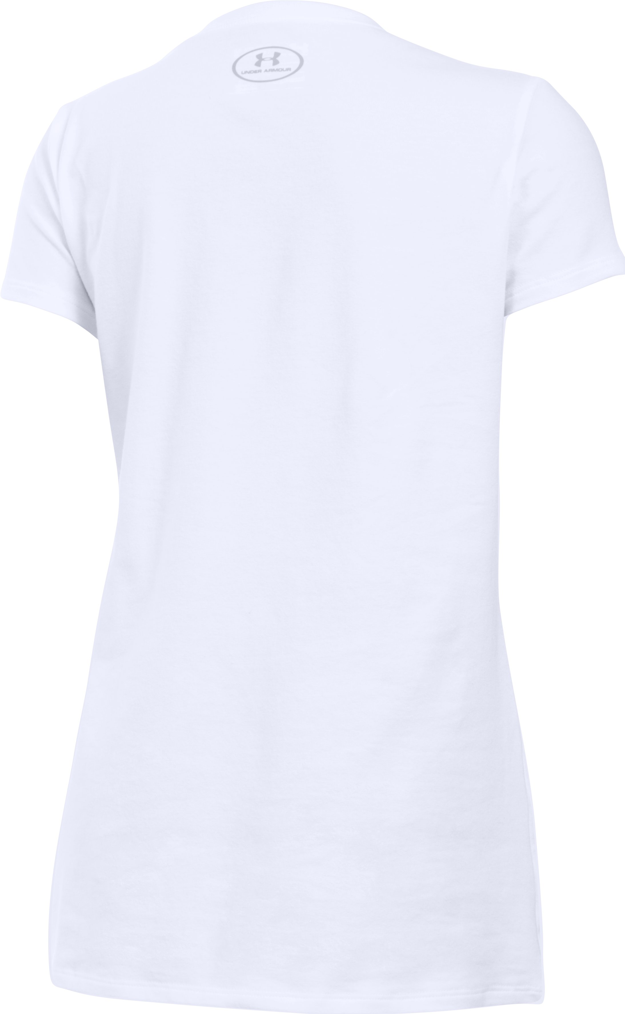 Girls' UA Cheer T-Shirt, White,