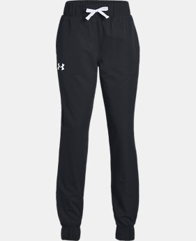 Girls' UA Woven Warm-Up Pants  2  Colors Available $50