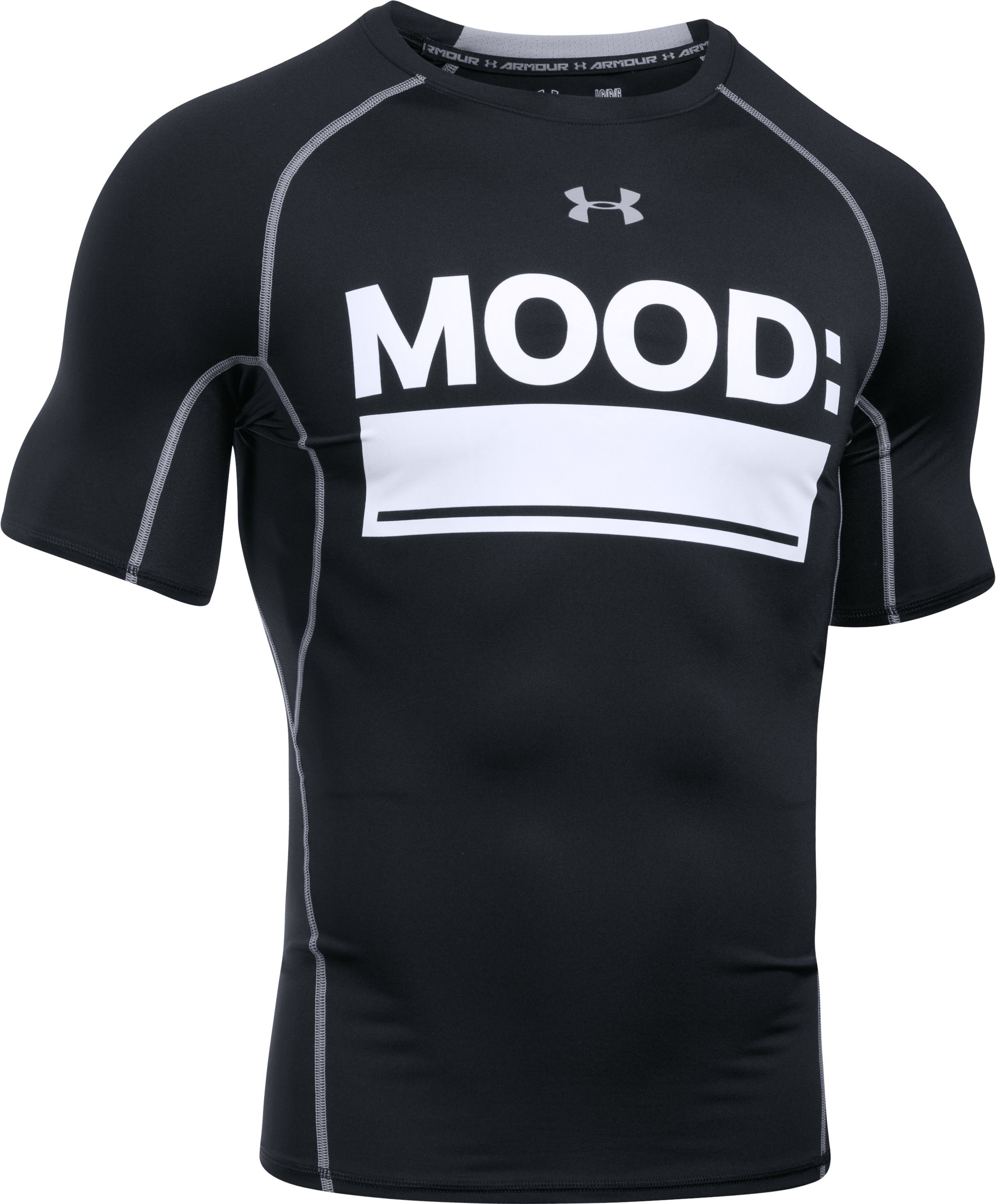 Men's UA HeatGear® Armour Mood Compression Shirt, Black ,