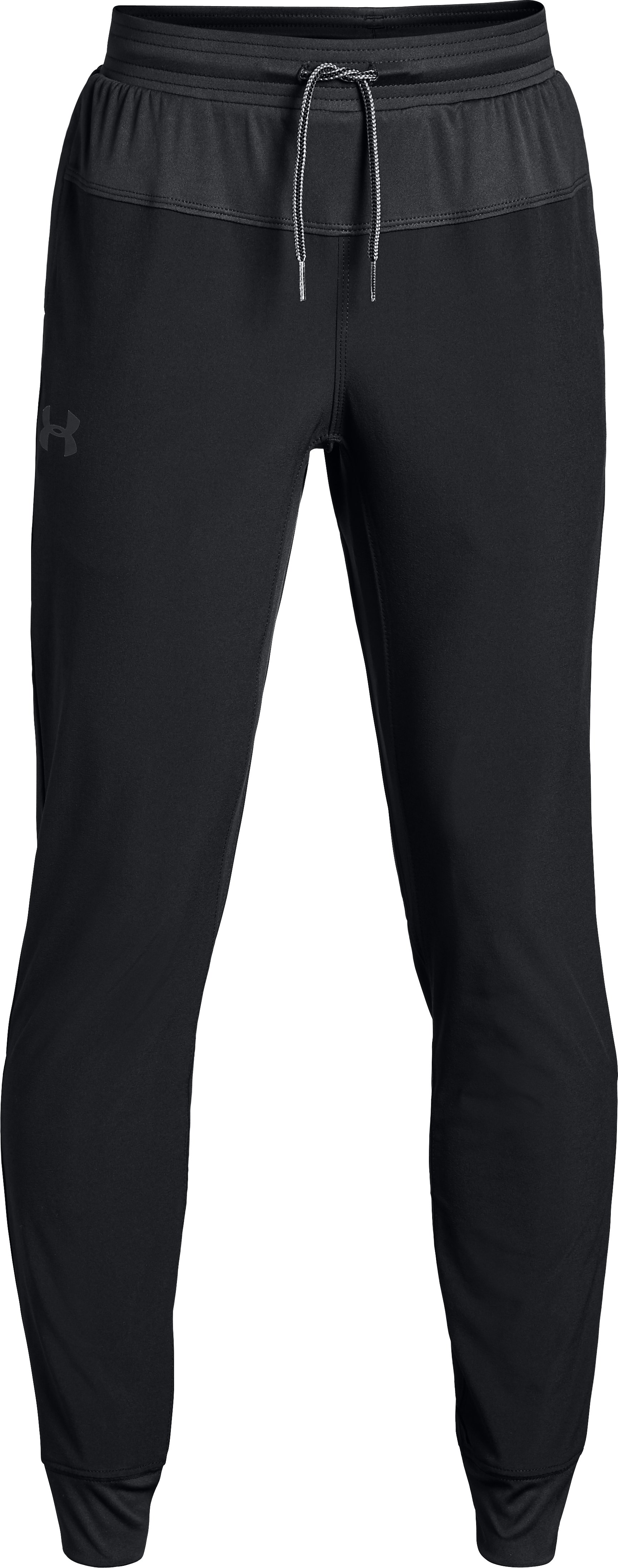 Jersey Lined Woven Pant, Black , zoomed