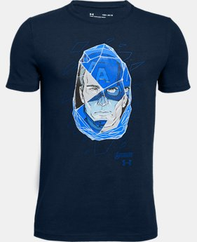 Boys' UA Captain America Duo Short Sleeve T-Shirt  1  Color Available $25
