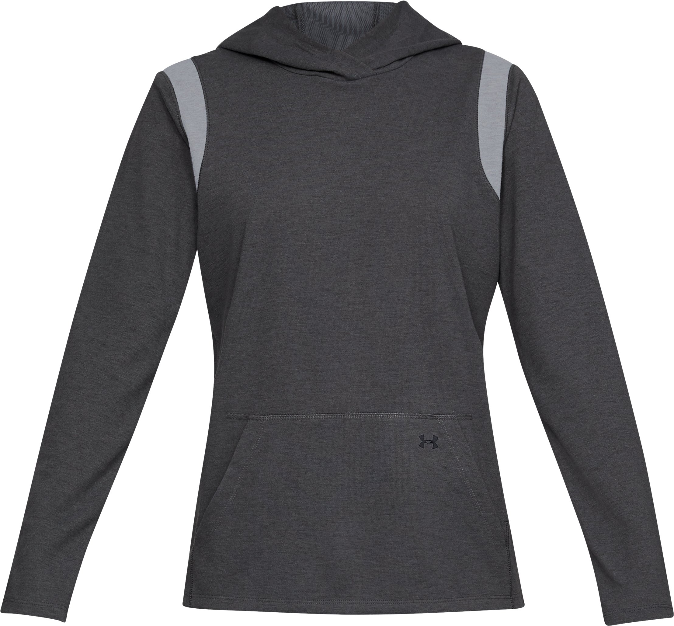 Women's ColdGear® Infrared Layer Hoodie, Charcoal Light Heather,