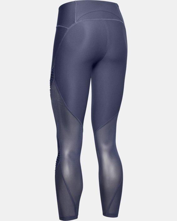 Legging UA Vanish Pleated Crop pour femme, Blue, pdpMainDesktop image number 4