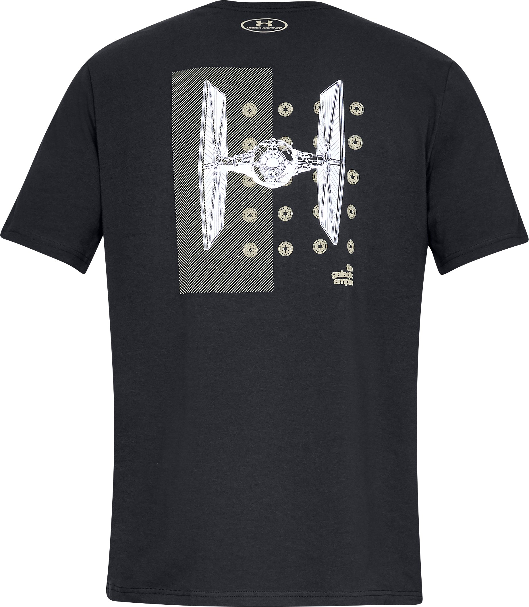 Men's UA Star Wars Galactic Fighter Short Sleeve T-Shirt, Black ,