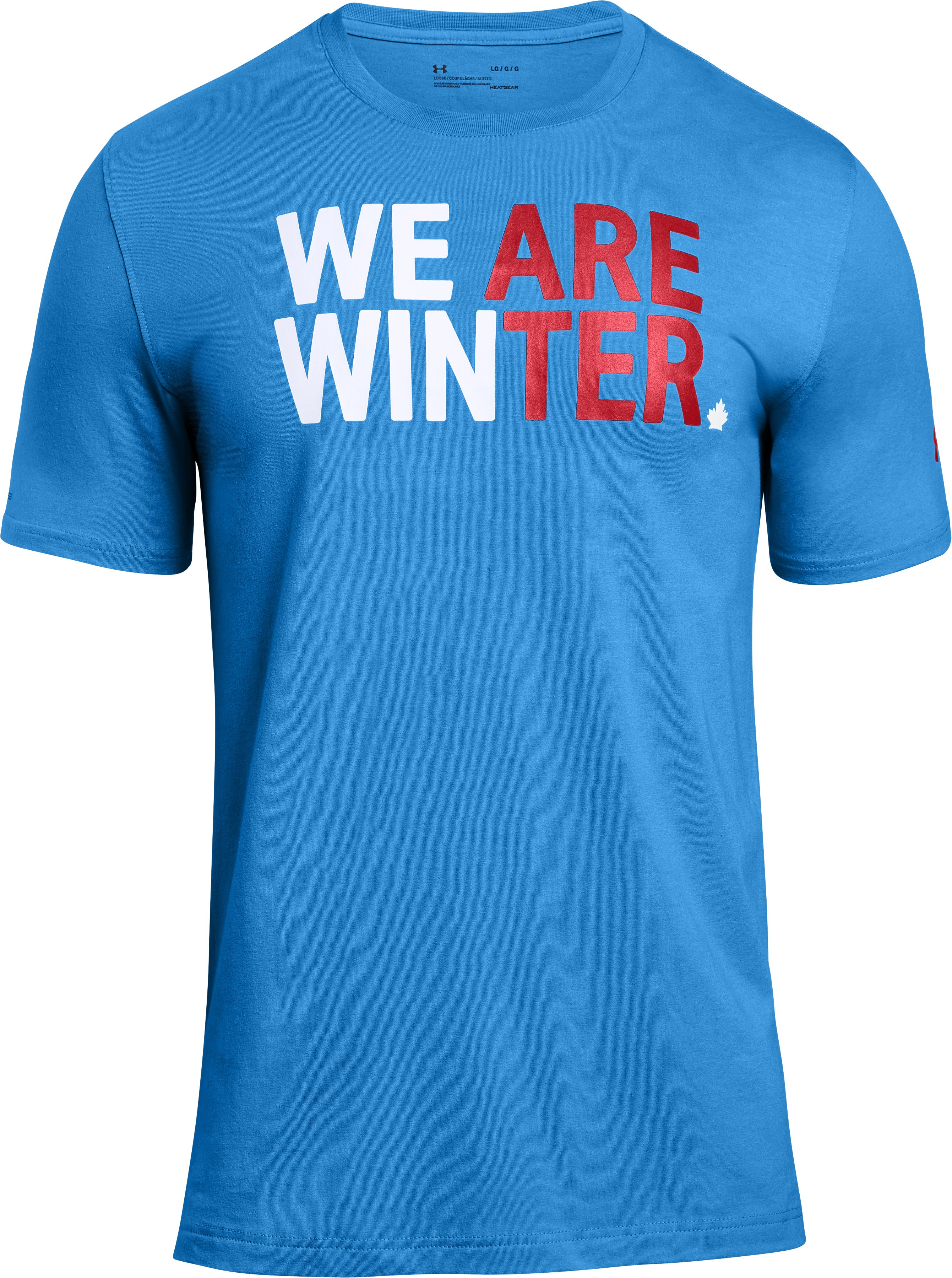 Men's UA Team Canada Performance We Are Winter T-Shirt, Water, undefined