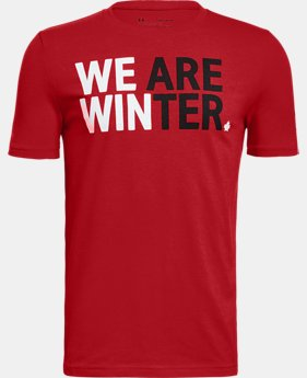 New Arrival  Boys' UA Team Canada Performance We Are Winter T-Shirt  1 Color $30