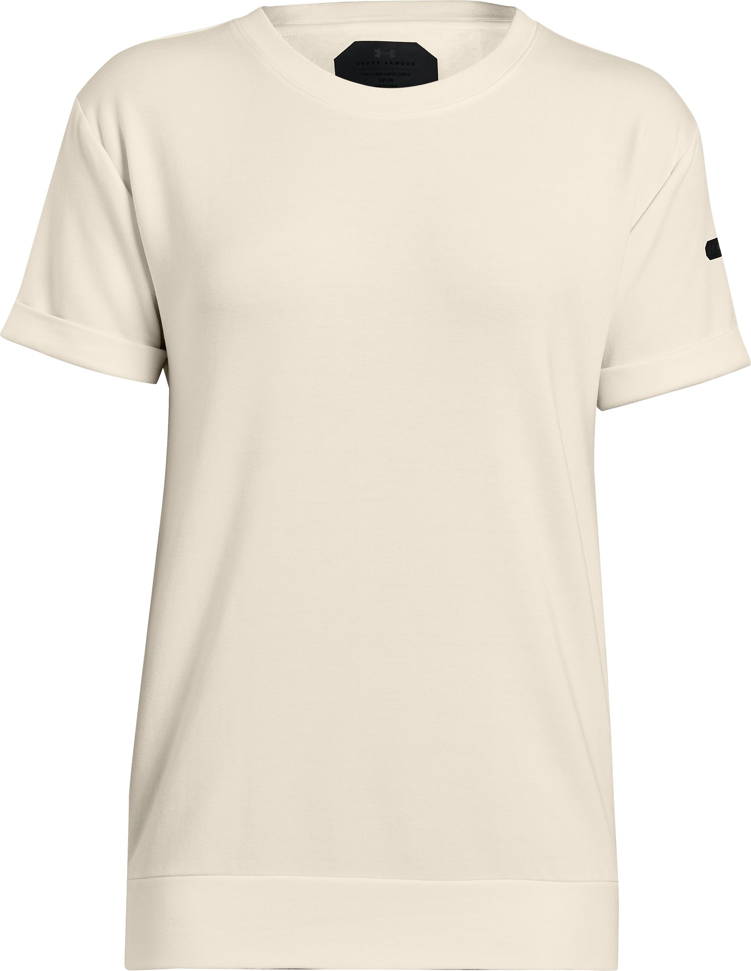 Women's UA Unstoppable Fleece ½ Sleeve, TUFT WHITE,