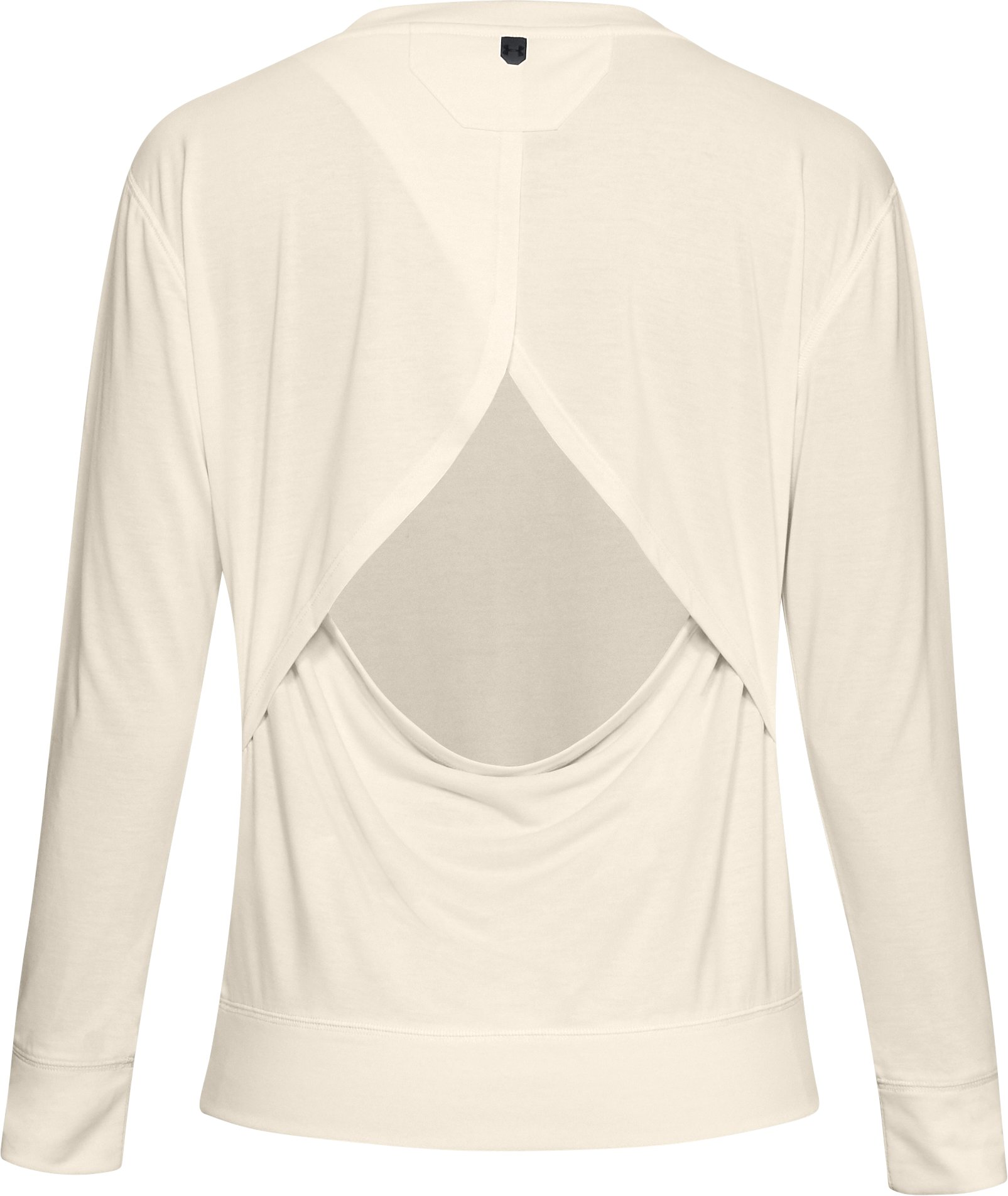 Women's UA Unstoppable Open Back Long Sleeve, TUFT WHITE,