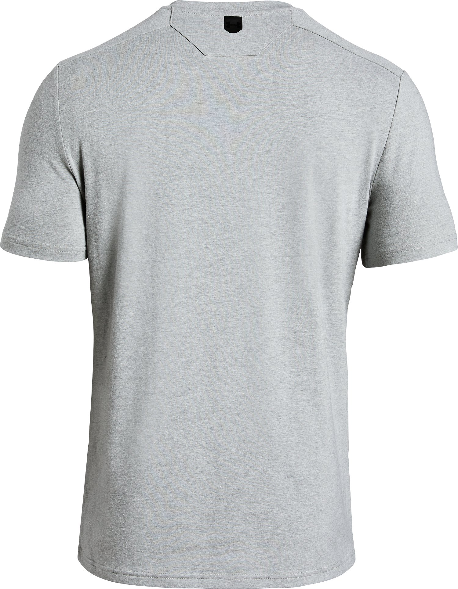 Men's UA Unstoppable Short Sleeve Henley, True Gray Heather,