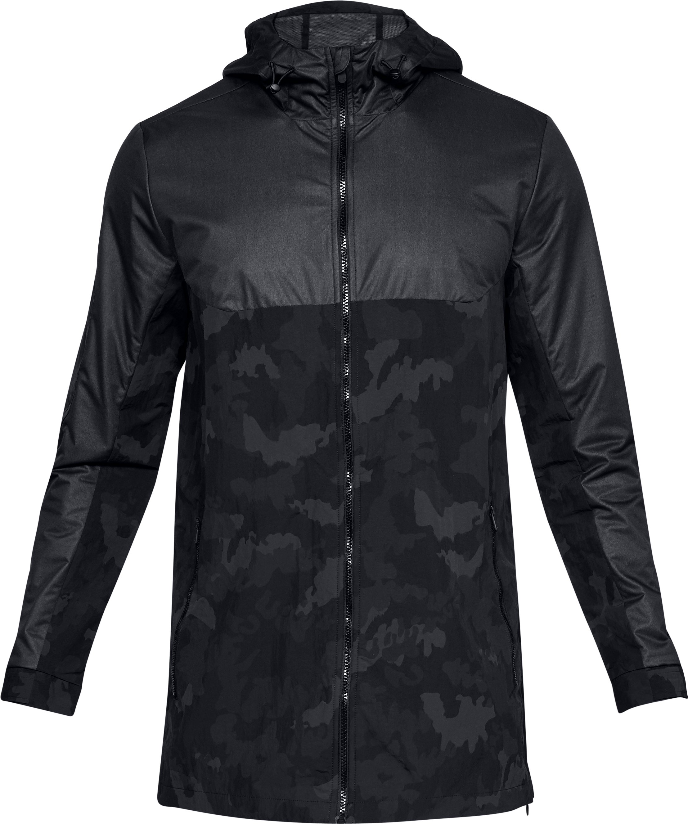 Men's UA Unstoppable GORE® WINDSTOPPER® Wind Jacket, Black ,