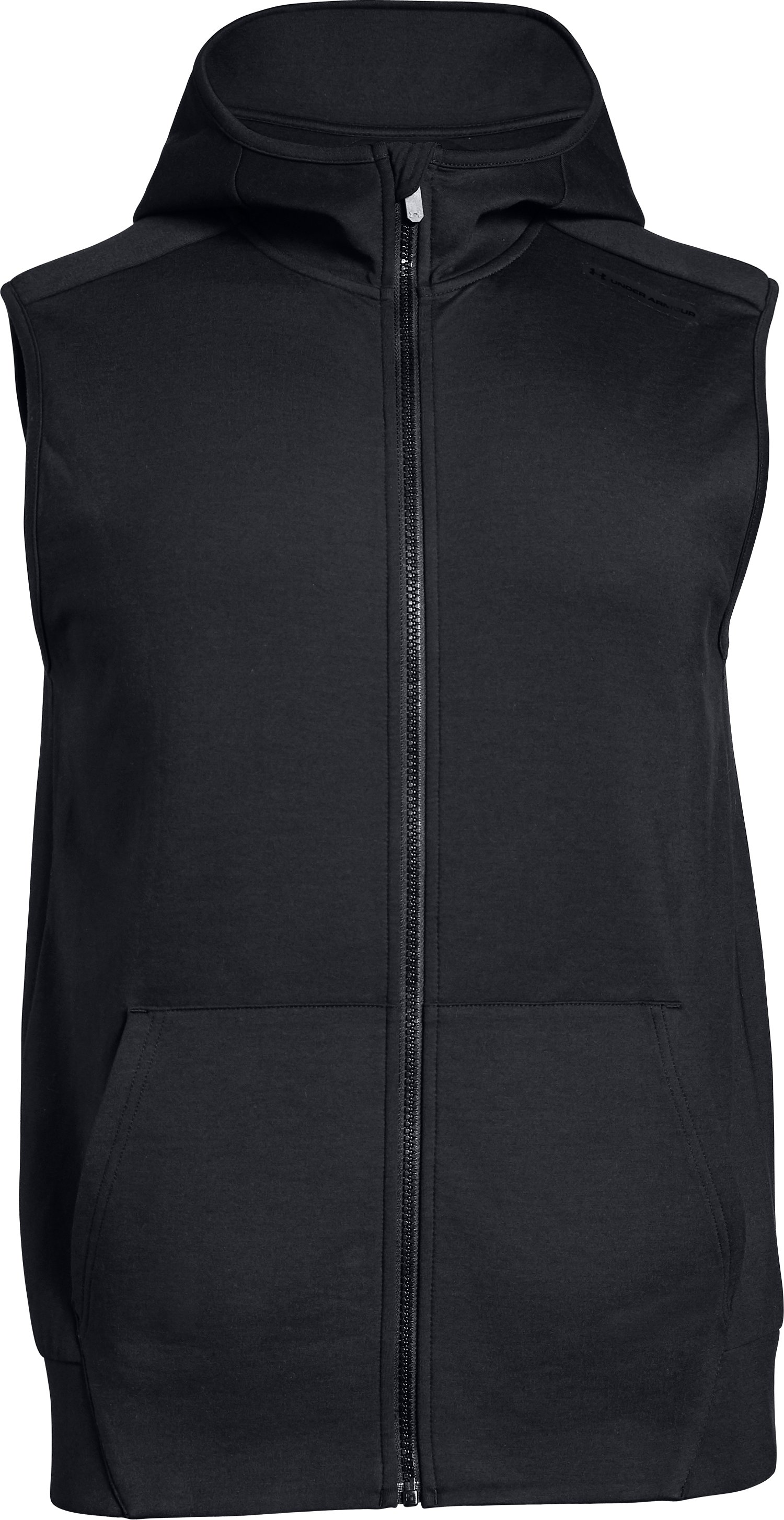 Men's UA Unstoppable Knit Sleeveless Full Zip, Black ,
