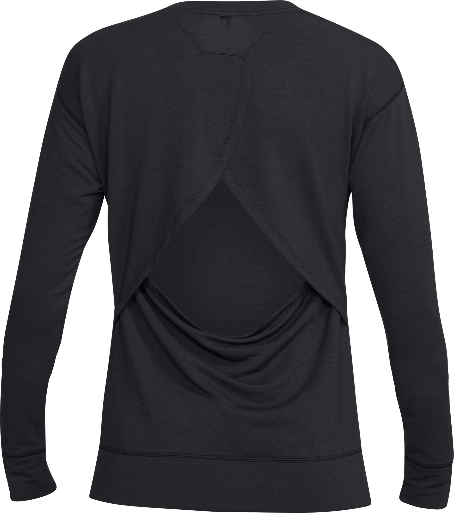 Women's UA Unstoppable Knit Crew, Black ,