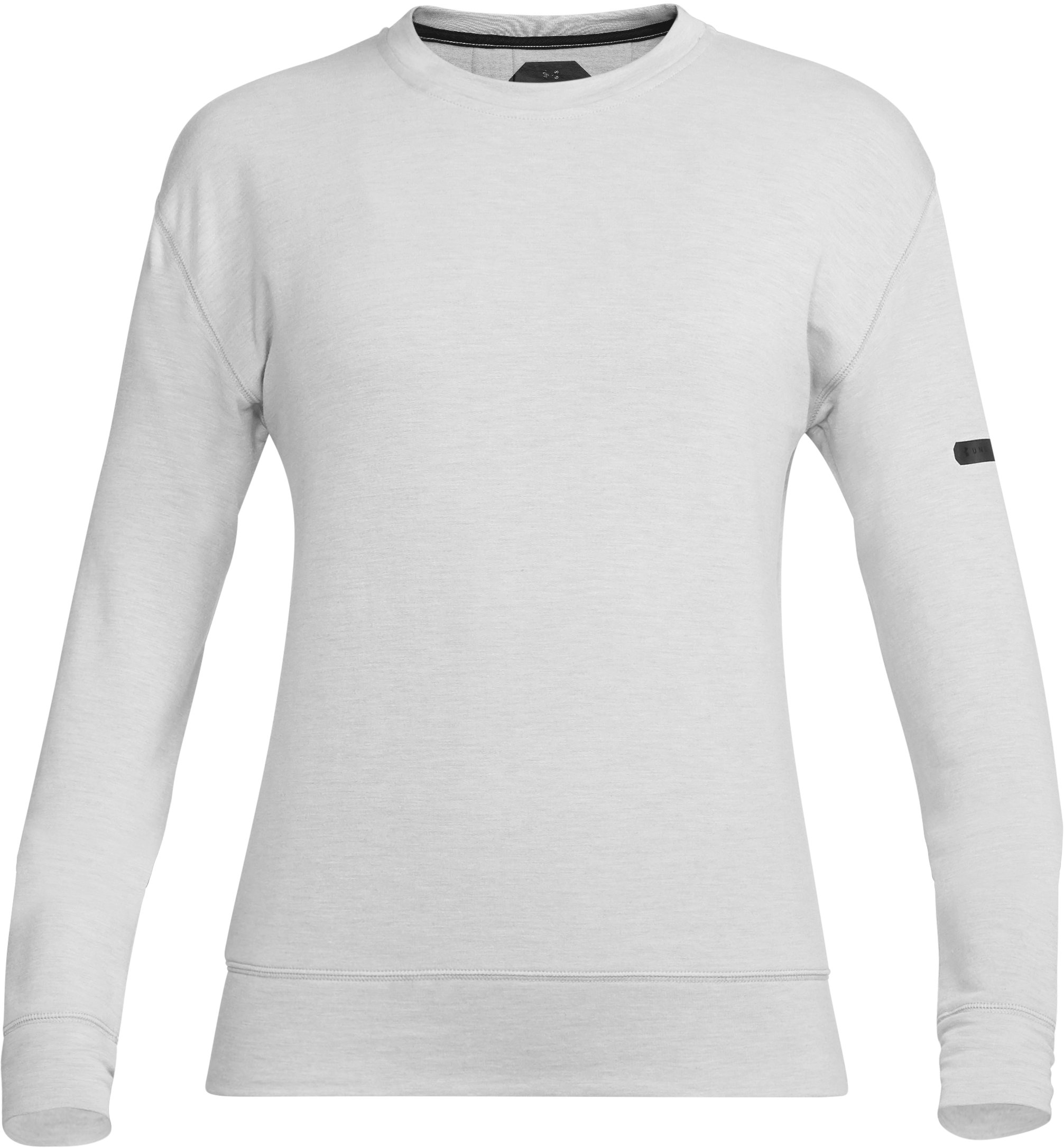Women's UA Unstoppable Knit Crew, True Gray Heather, undefined