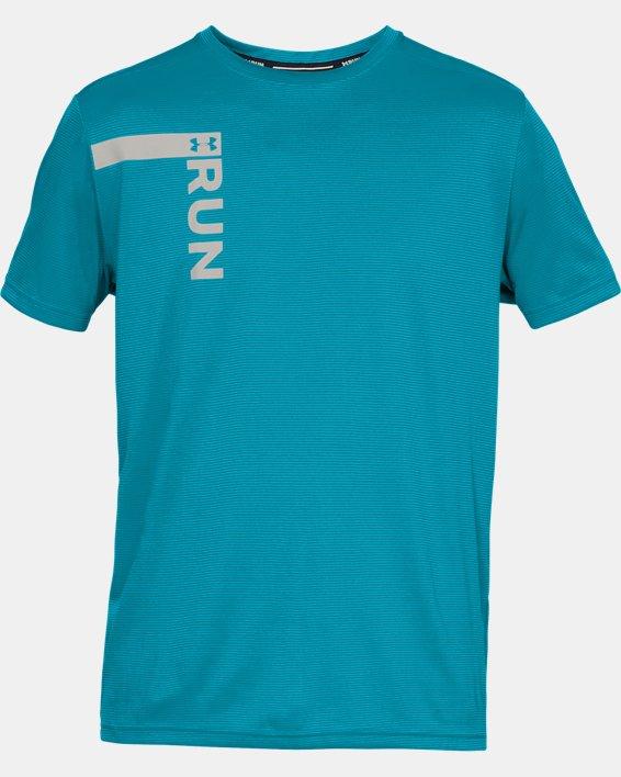 Men's UA Run Tall Graphic T-Shirt, Blue, pdpMainDesktop image number 4