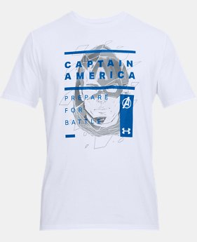 Men's UA Captain America Overlay T-Shirt  1  Color Available $35