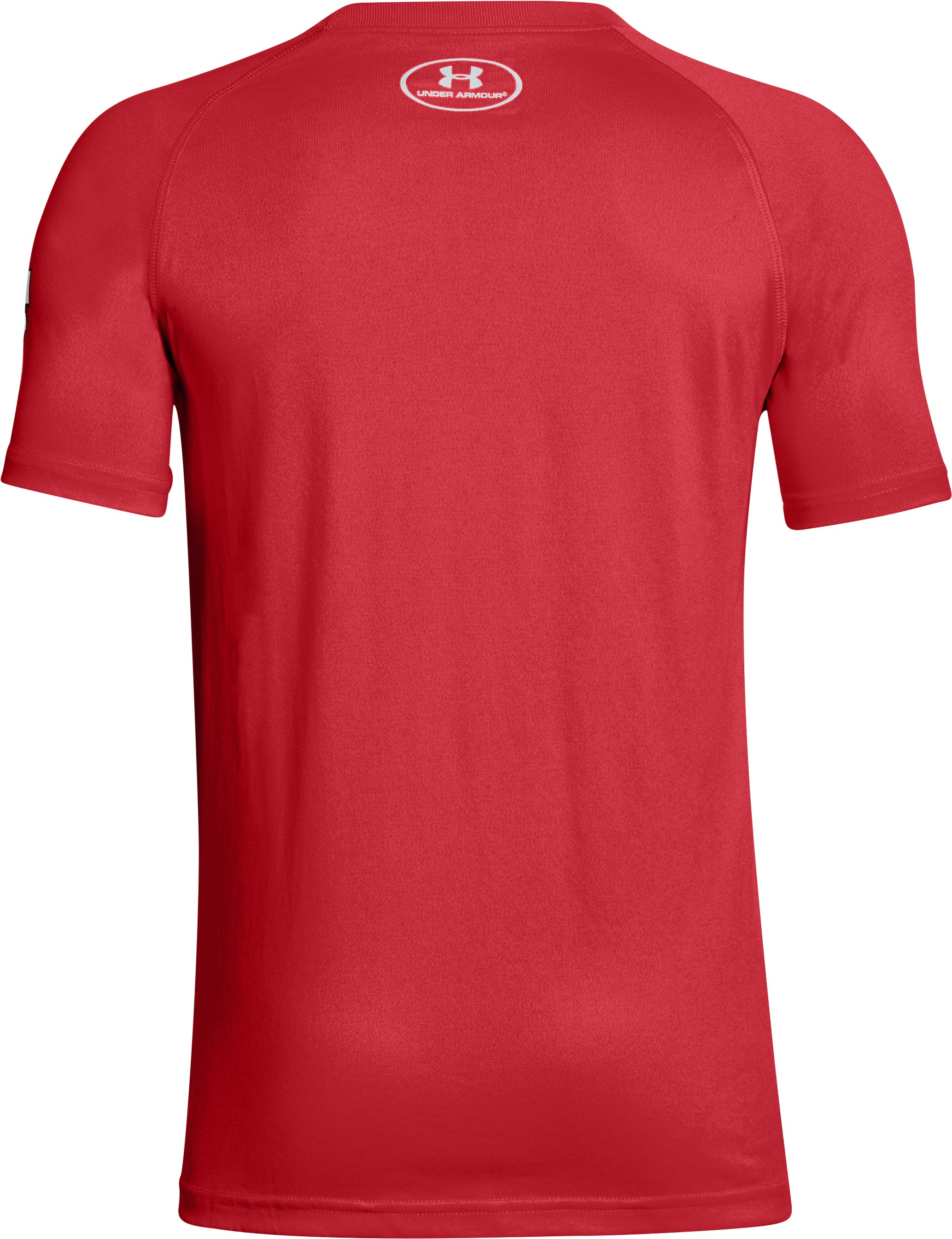 Boy's Texas Tech UA Tech™ T-Shirt, Red,