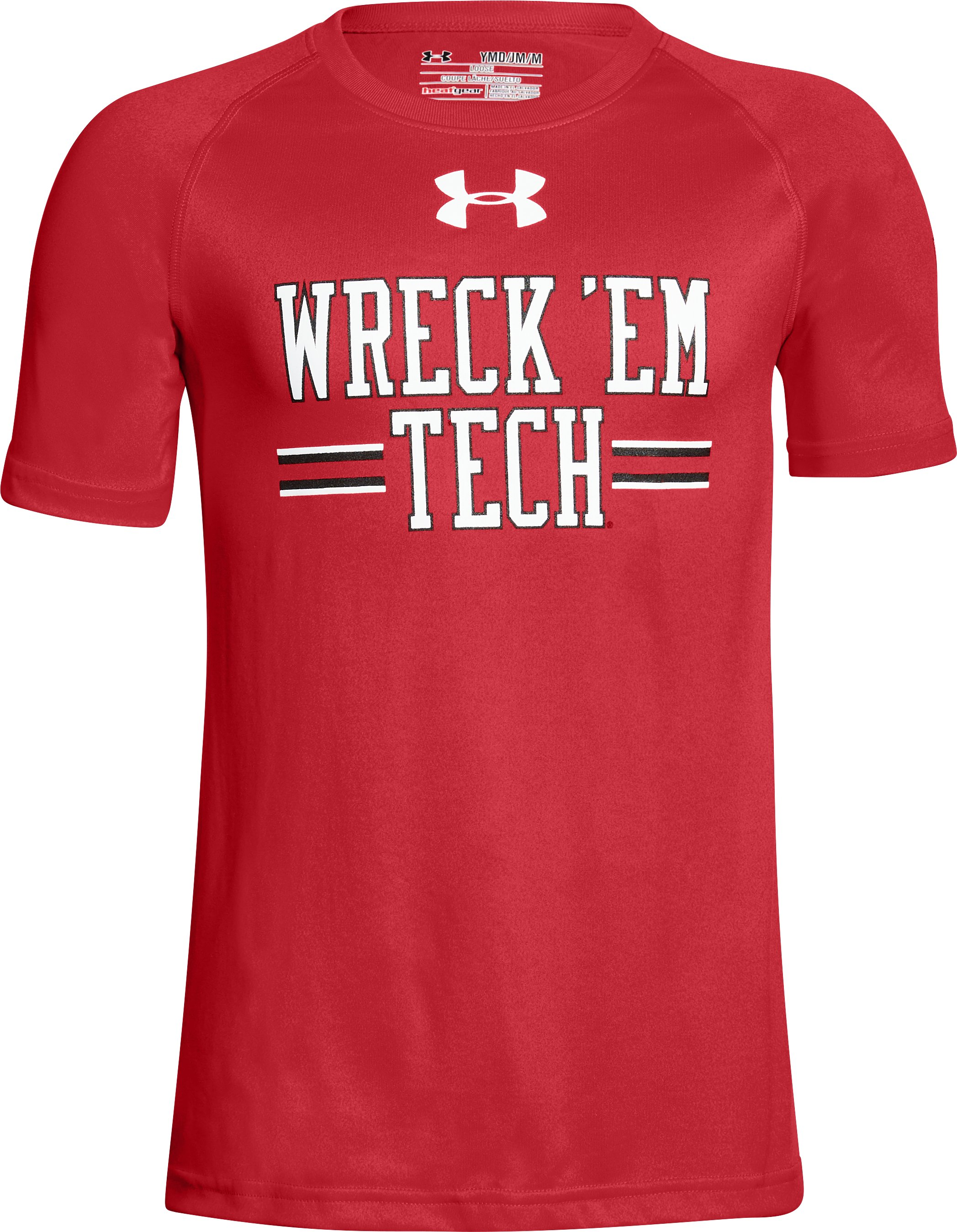 Boy's Texas Tech UA Tech™ T-Shirt, Red