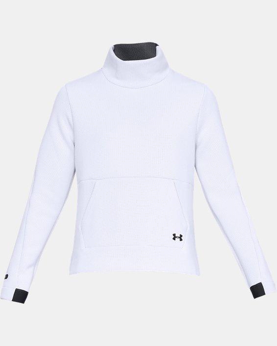 Women's UA Move Mock Long Sleeve, White, pdpMainDesktop image number 4