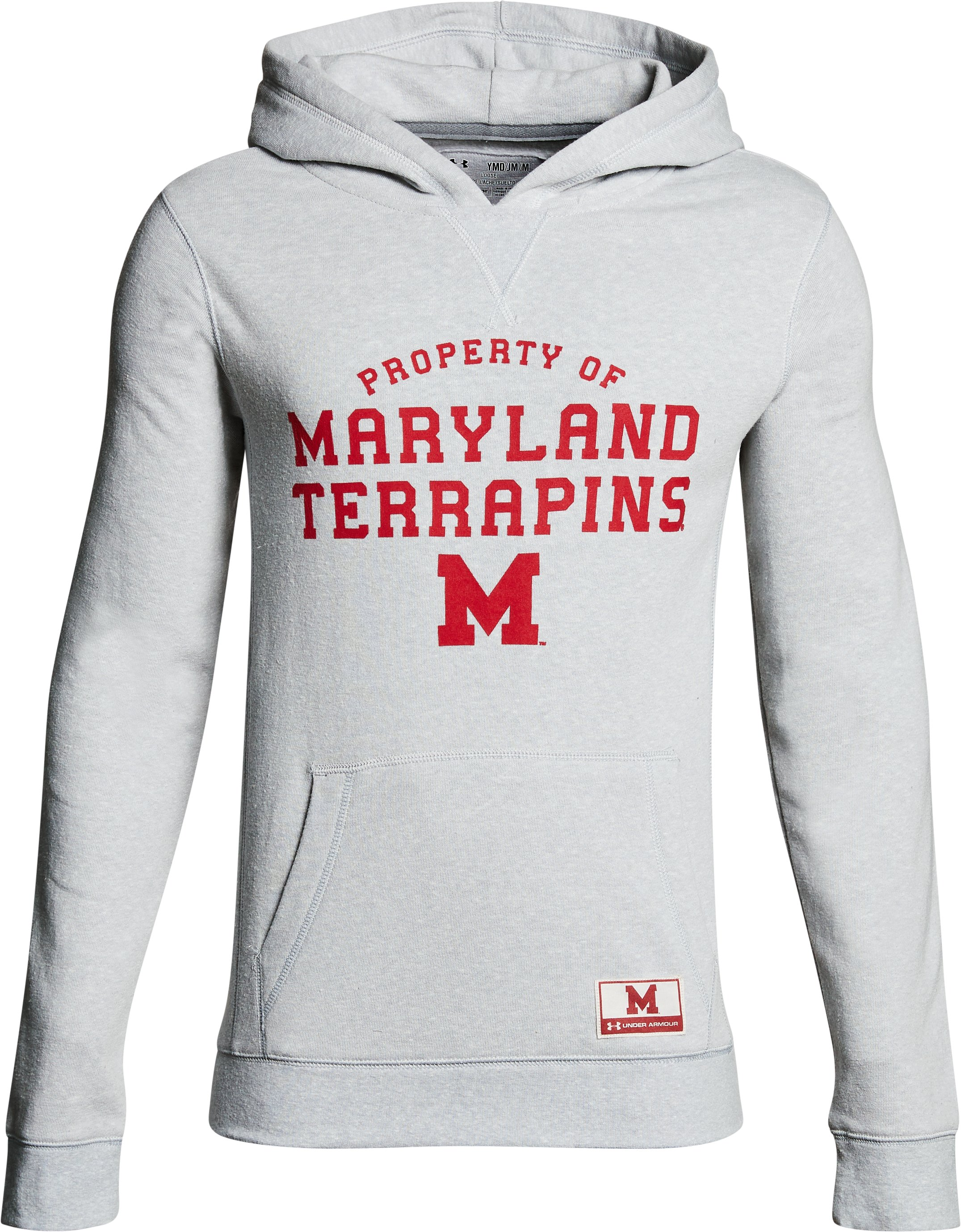 Boy's Maryland Iconic Hoodie, Gray, undefined